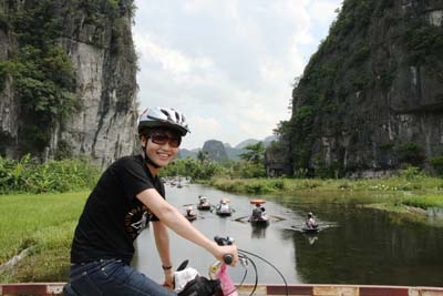 Hoa Lu to Tam Coc by bicycle